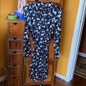 Ann Taylor long sleeve button down dress
